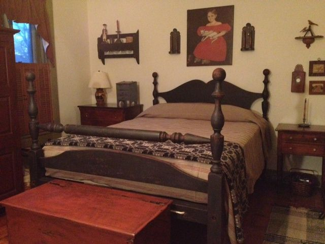My new repro cannonball bed designed by me made by joel - Paint finish for bedroom ...