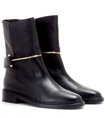 Balenciaga - Leather boots - mytheresa.com GmbH