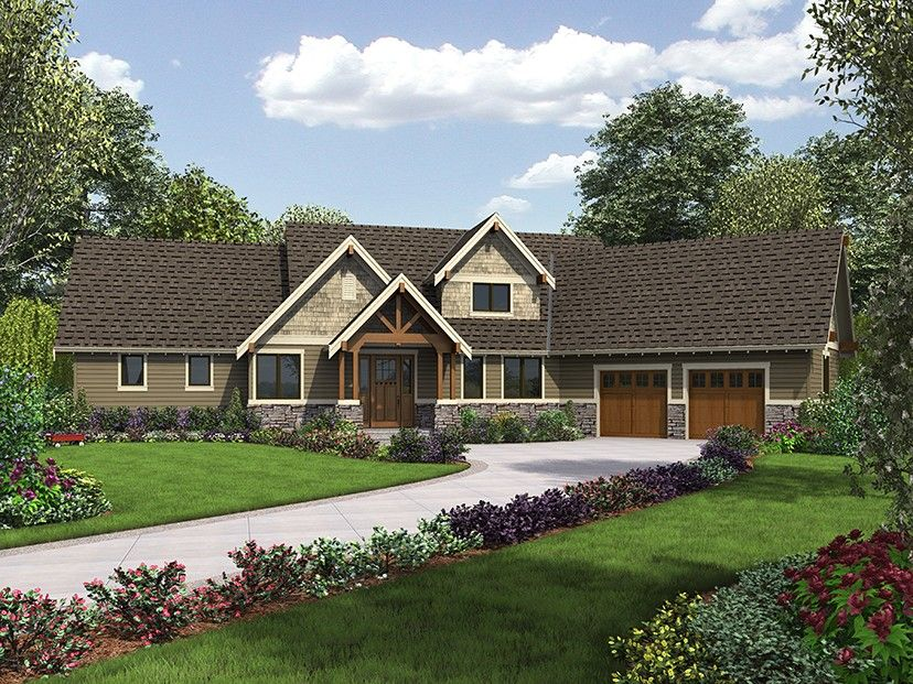 Craftsman Style House Plan 3 Beds 2.5 Baths 2532 Sq/Ft