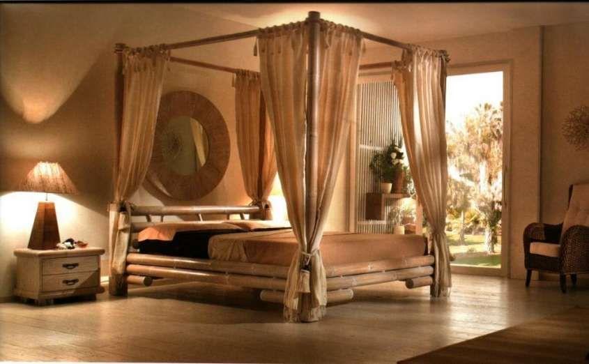 Arredare una camera da letto in stile etnico - Letto a baldacchino ...