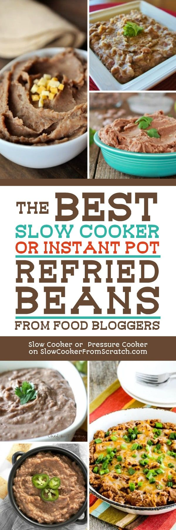 The best slow cooker or instant pot refried beans from food bloggers the best slow cooker or instant pot refried beans from food bloggers best holiday recipes pinterest homemade refried beans instant pot and cooker forumfinder Image collections