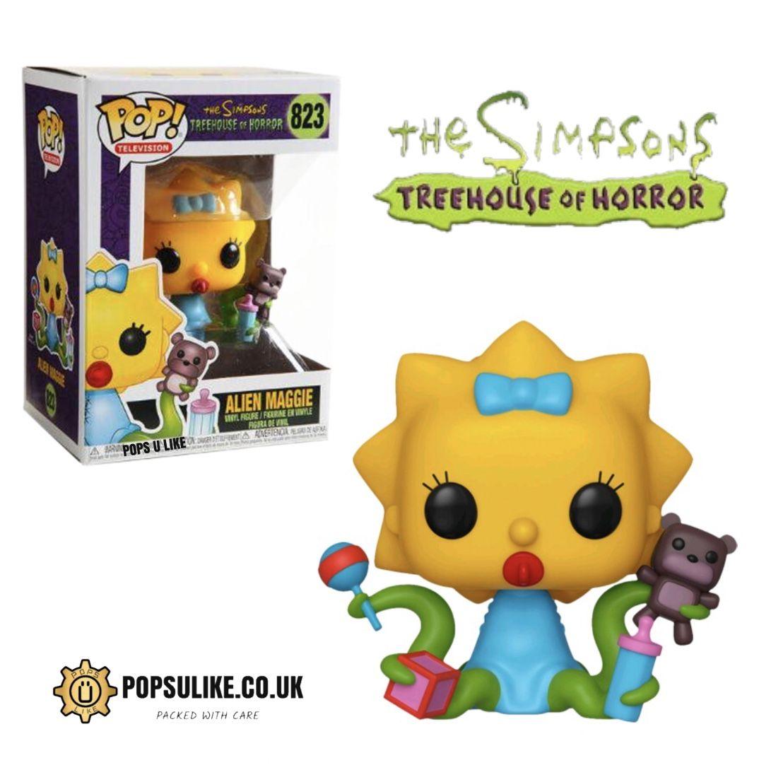 FUNKO POP Animation Simpsons Tree House Of Horror Alien Maggie #823 Classic