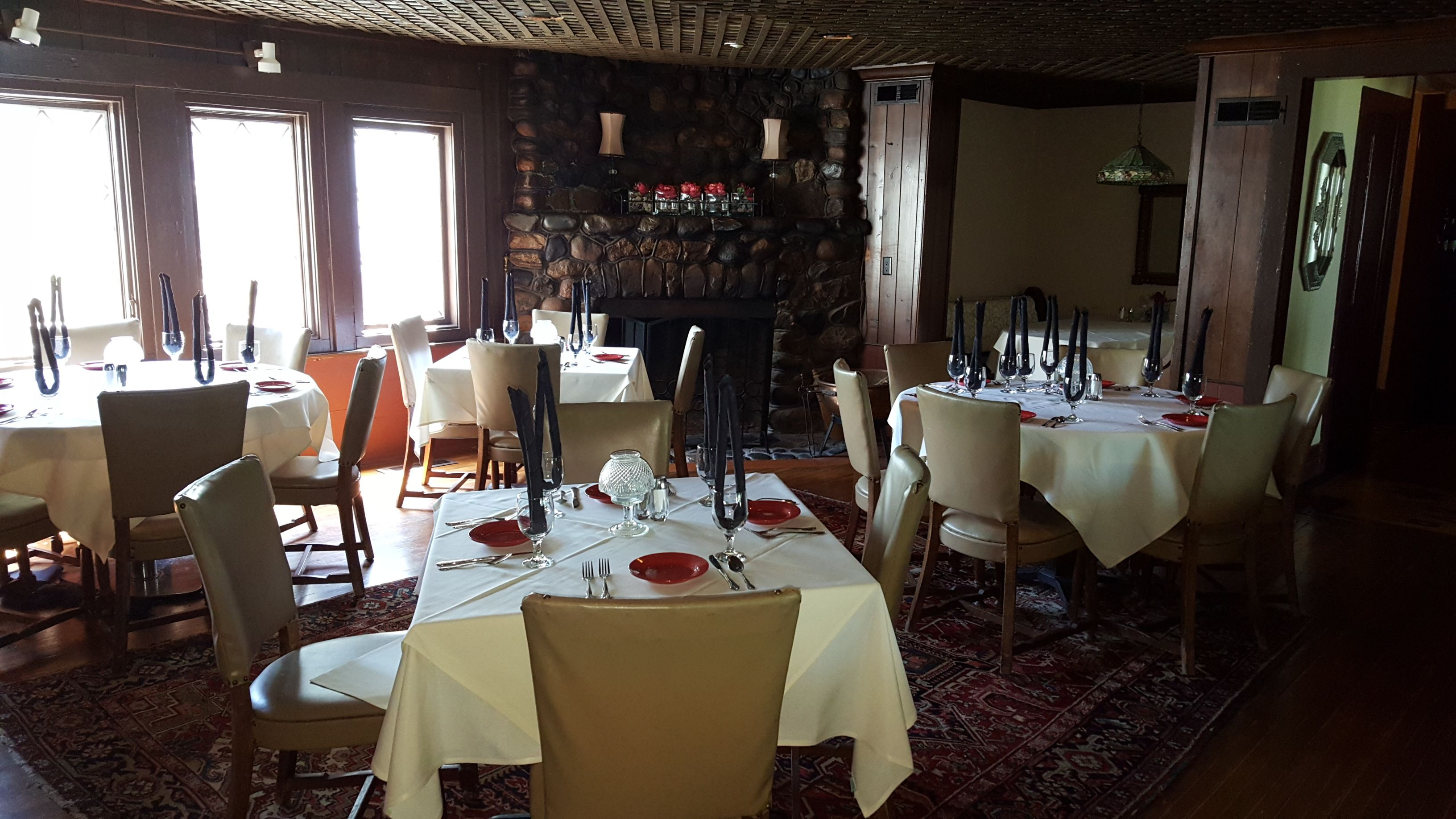 The Oaks Lakeside Restaurant Old Bar Room Fireplace Perfect Place