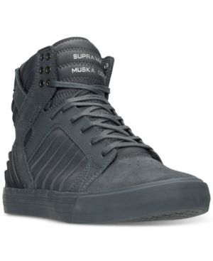 Supra Men S Skytop Evo High Top Casual Sneakers From Finish Line Black 10 5 Casual Sneakers Shoes Mens High Tops