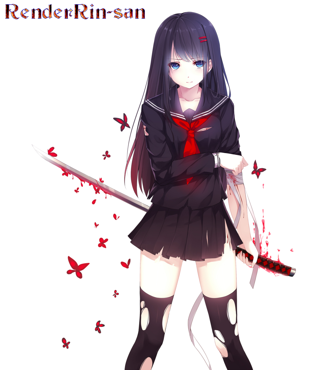 Anime girl with sword-7454