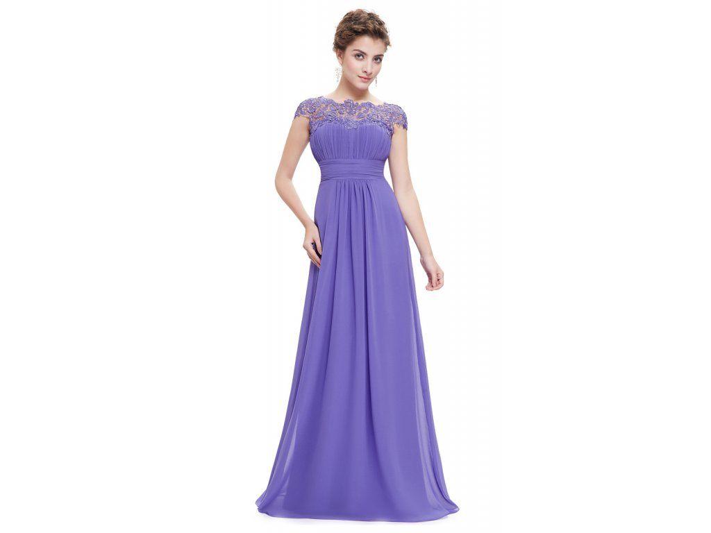 97d949b35fa fialkové plesové společenské šaty s krajkou