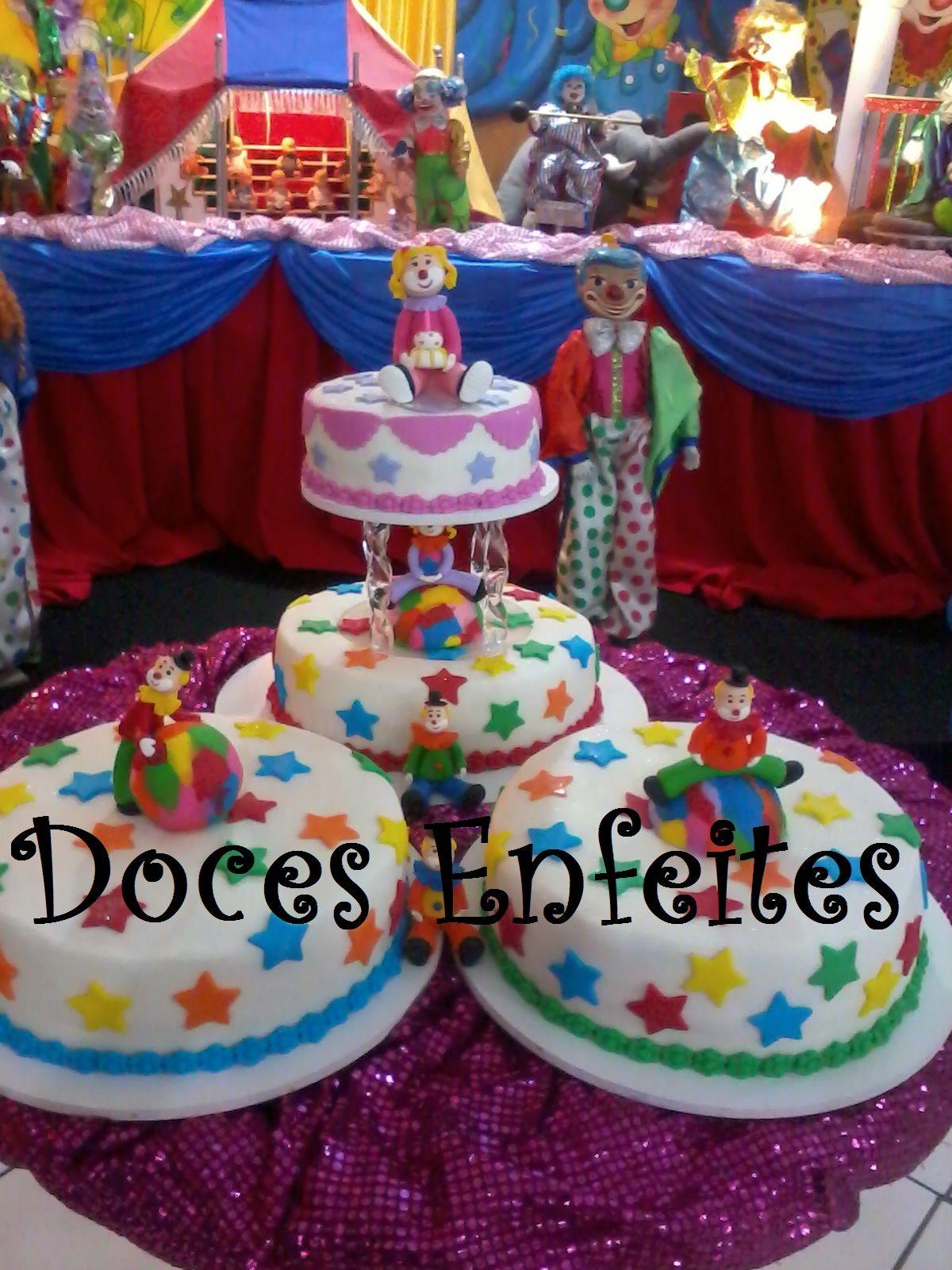 Bolo para Festa de Circo ou Palhaço Encomendas:921) 2652-6583 docesenfeites.blogspot.com