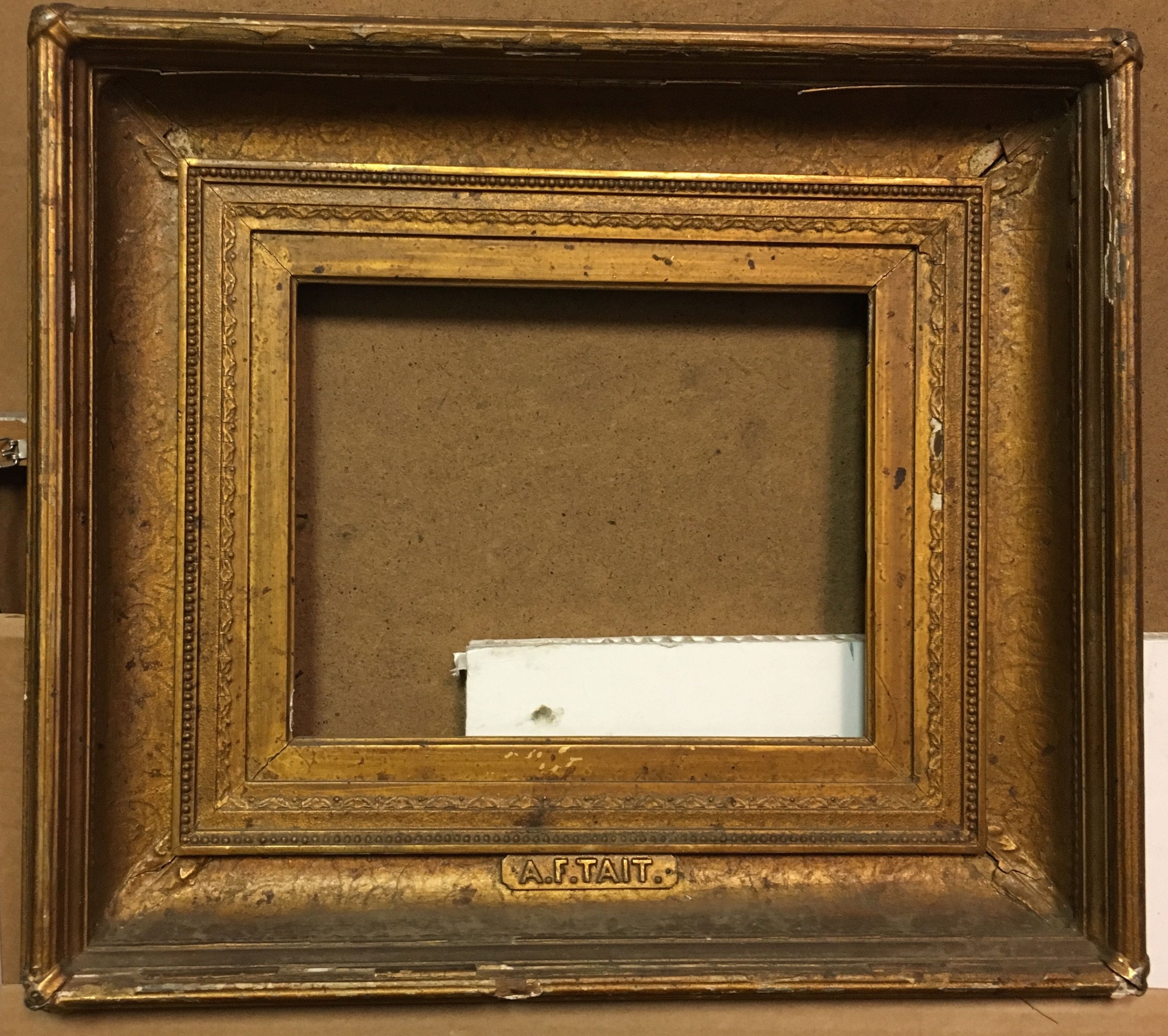 Frame with name plate af tait which appears to be carved and frame with name plate af tait which appears to be carved and leafed with jeuxipadfo Images