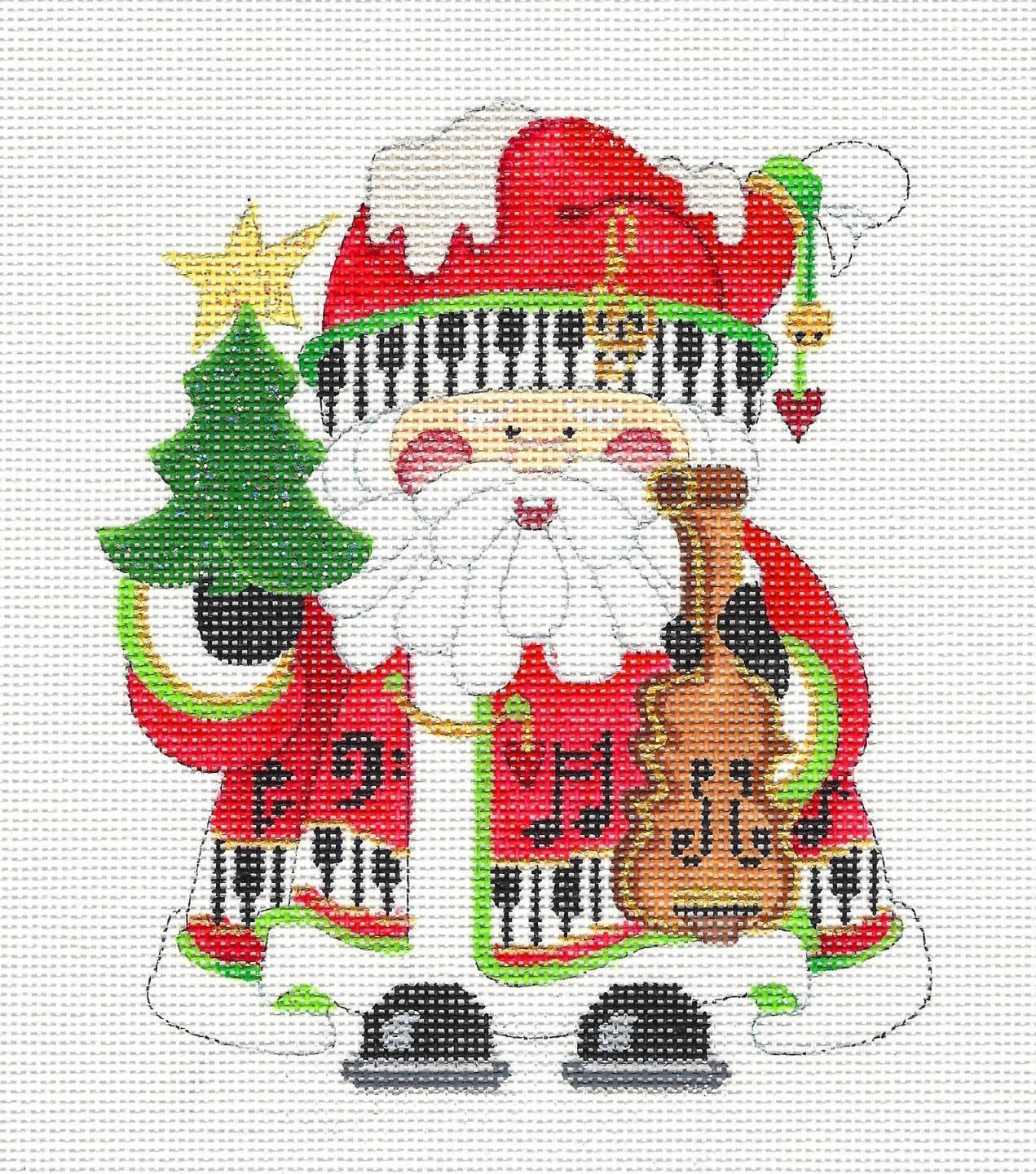 Details about *NEW* Music Santa handpainted Needlepoint Canvas ...