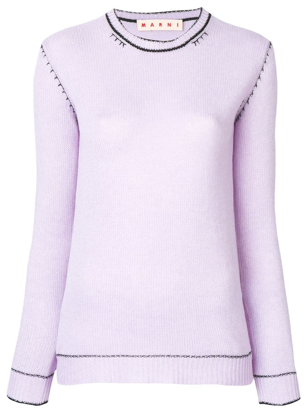 a140320d004340 Marni slim-fit knitted cashmere sweater - Purple, 2019   Products ...