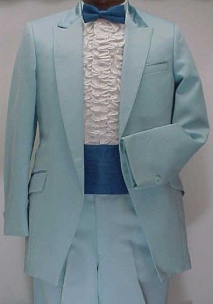 light baby blue jacket or 4pc retro after 6 tuxedo vintage
