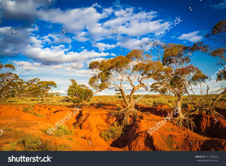Red Banks Scenic Australian Outback Rural Landscape Scenic Outback