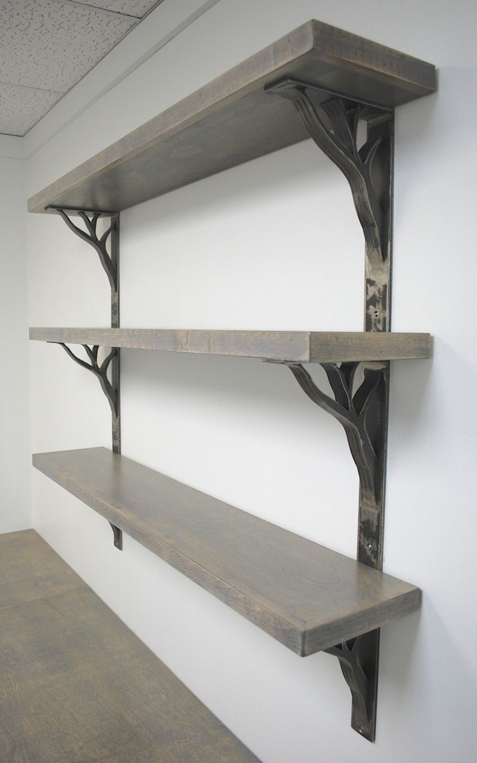 Support As A Blank Wall Shelf Brackets For Cool Metal Or A Natural