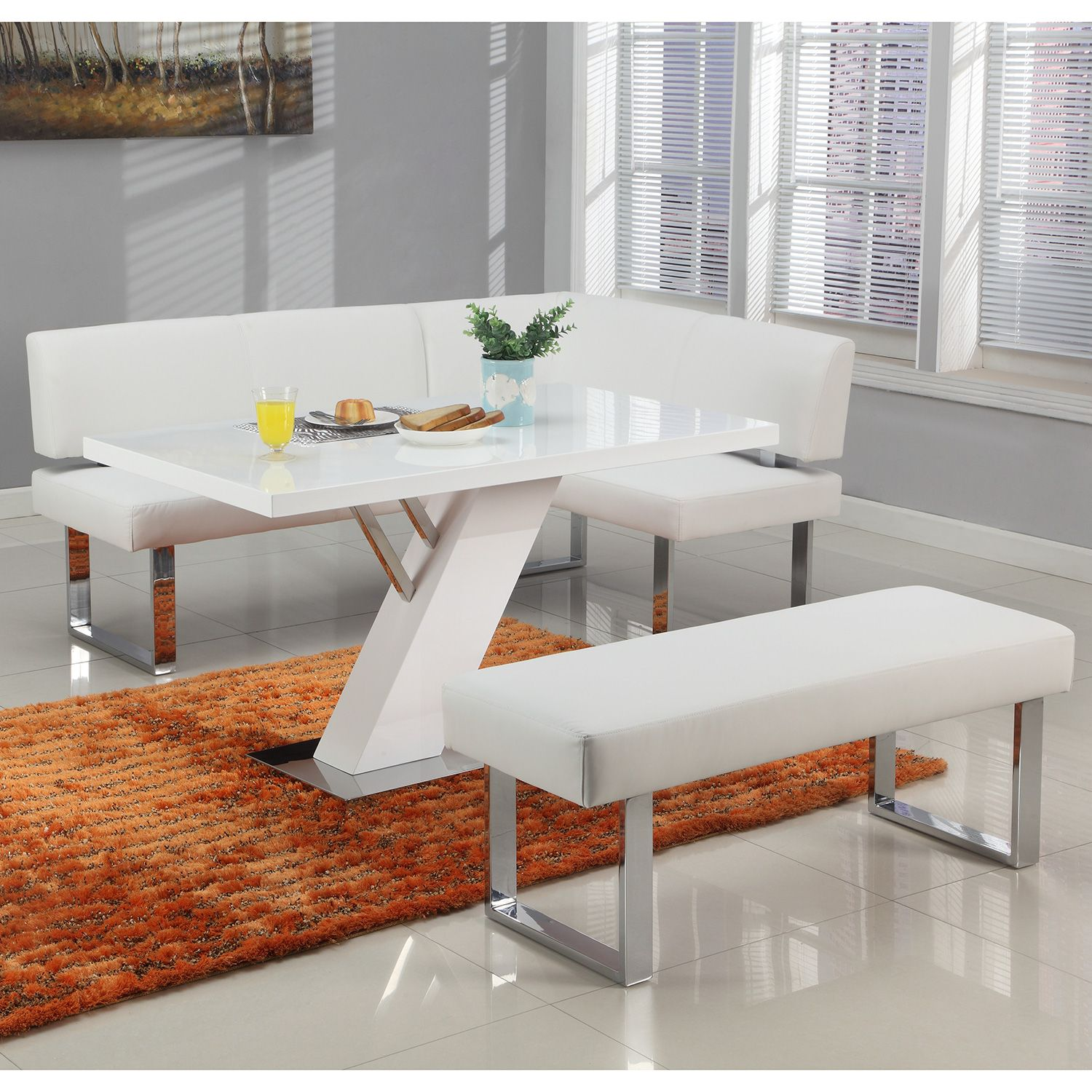 Chintaly Imports LINDENDTBMT+NOOK+BENCH Linded Dining