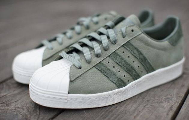 adidas super star groen