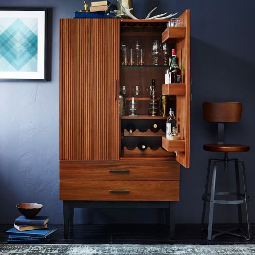 Reede Bar Cabinet - Tall | west elm | furnishings | Home ...