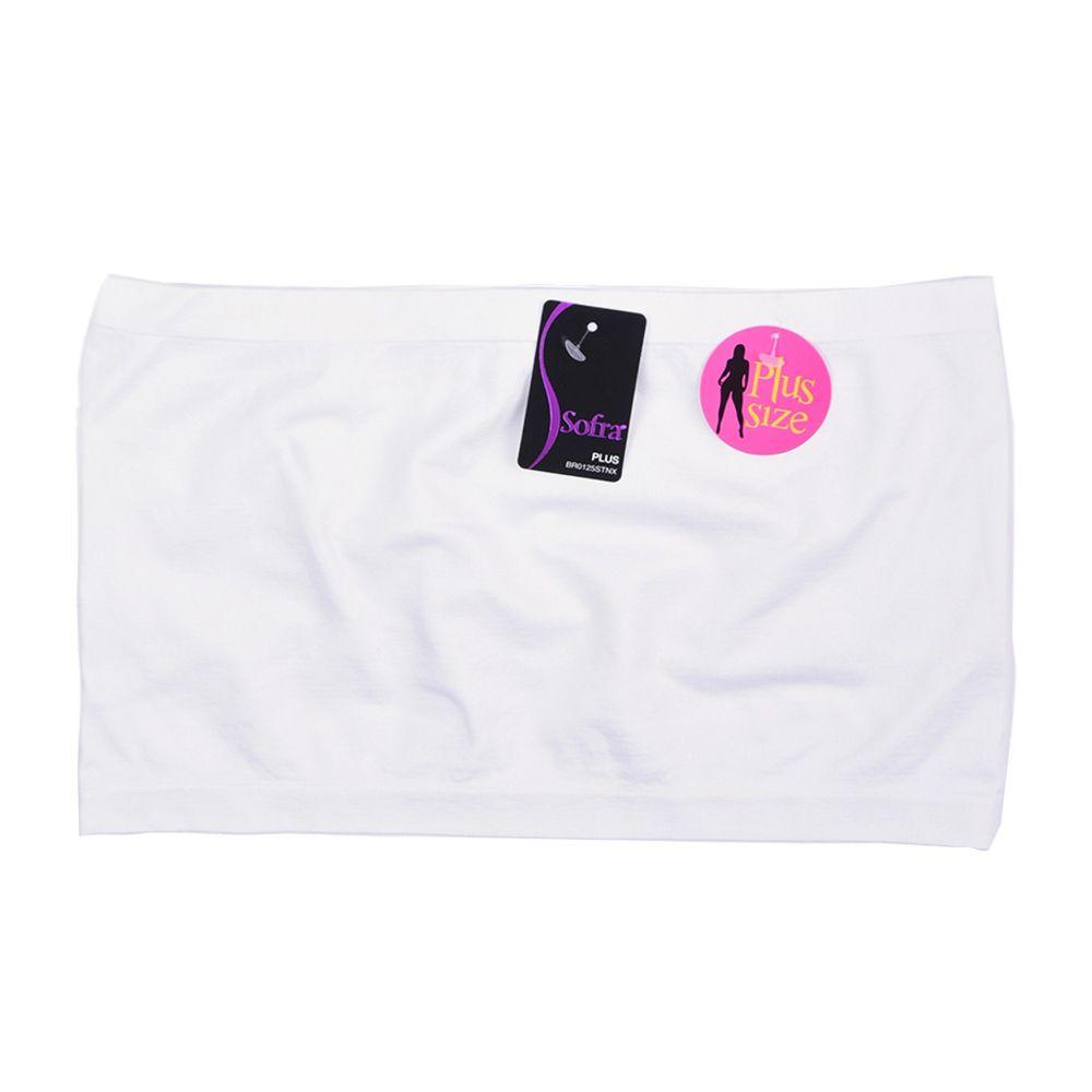 196b3de37 Plus Size Seamless Strapless Bandeau Tube Tops Sports Bra Yoga Stretchy One  Size  Ad