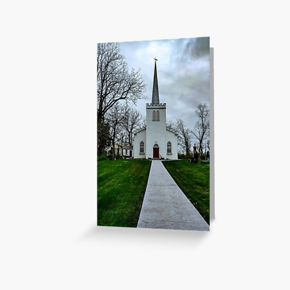 1800's Church Greeting Card by Donna  Kasubeck