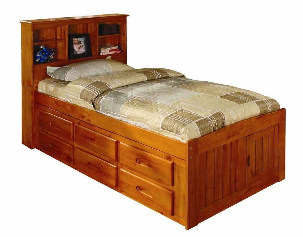 Nice Twin Bed With Drawers Underneath Bed Frame And Headboard