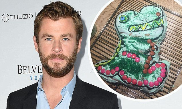 Chef Hemsworth? Chris whips up birthday cake for his daughter