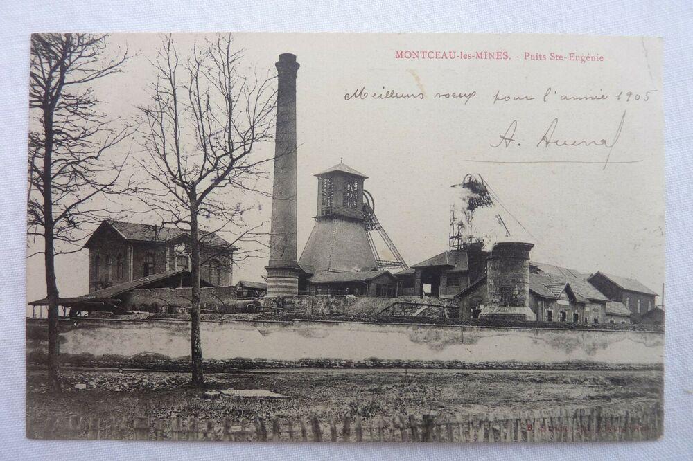 Cpa 71 Montceau Les Mines Puits Ste Eugenie 1905 Ref E 09