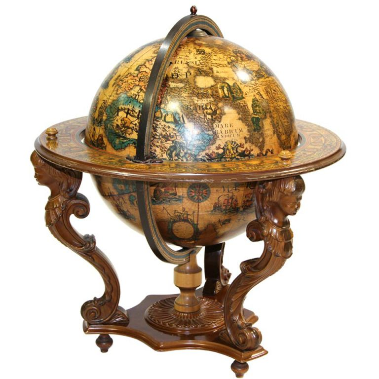 An Italian Baroque Globe Bar Italian Baroque Globe Bar Globe