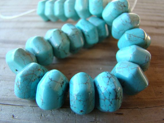 23 pieces of Light Blue Turquoise Faceted by BeJeweledByCandi, $10.00