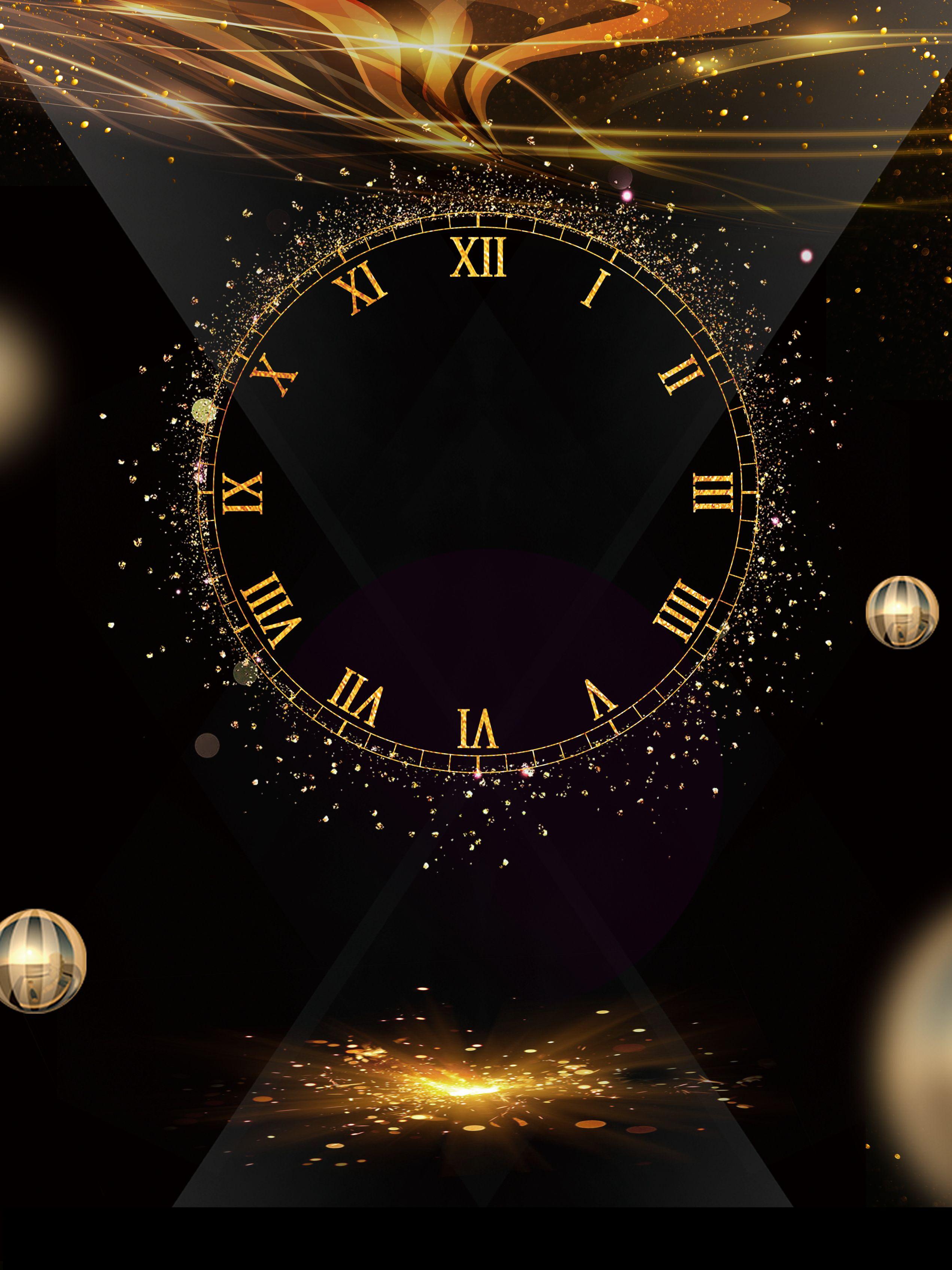 Black Gold Countdown Background ...