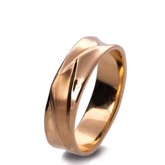 Waves No 5 18k Rose Gold Ring Wedding Ring Wedding Band Etsy In 2021 White Gold Rings Mens Wedding Rings Gold Unisex Ring