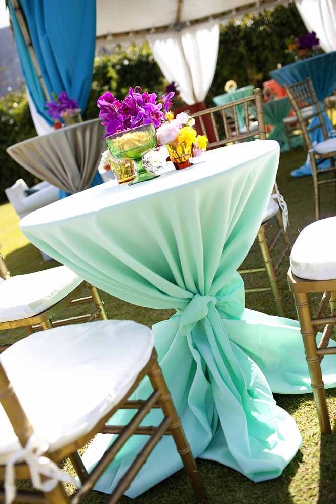Tropical table decor and floral centerpieces, created by ...