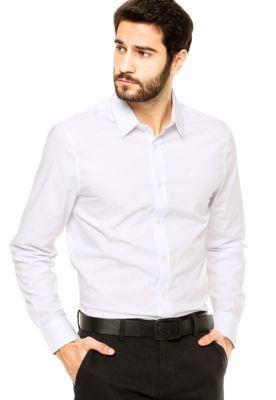 Camisa Calvin Klein Jeans Lisa Branco