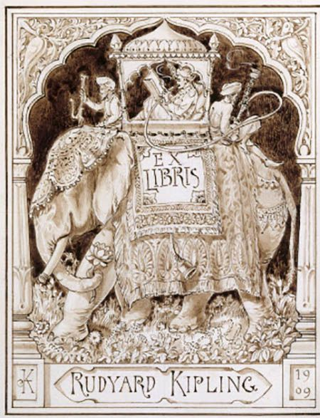 Kipling bookplate