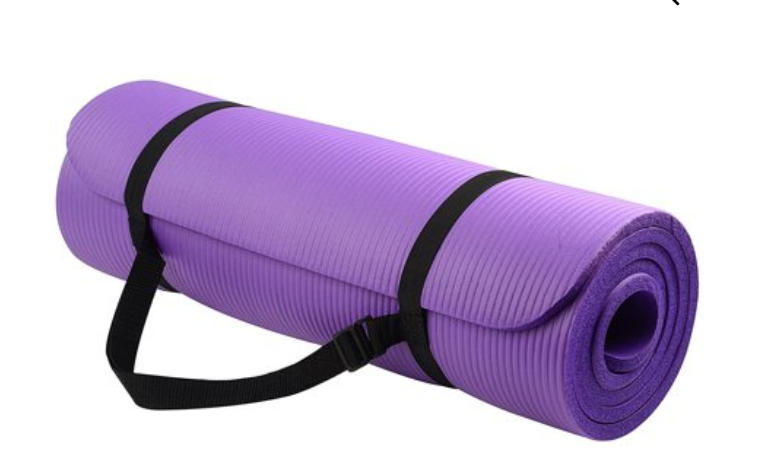 Balancefrom Goyoga All Purpose 1 2 Inch Extra Thick High Density Anti Tear Exercise Yoga Mat With Carrying Strap Fitnes In 2020 Yoga Mat Sling Mat Exercises Yoga Mat