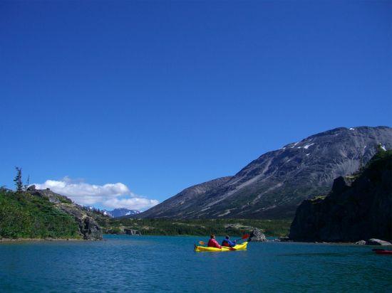 The Glacier Lake Kayak & White Pass Rail Experience in Skagway. #travel #vacation #Alaska