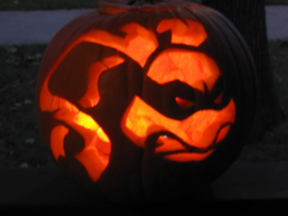 ninja pumpkin template  Ninja Turtle Pumpkin Carving. Damian would love this ...