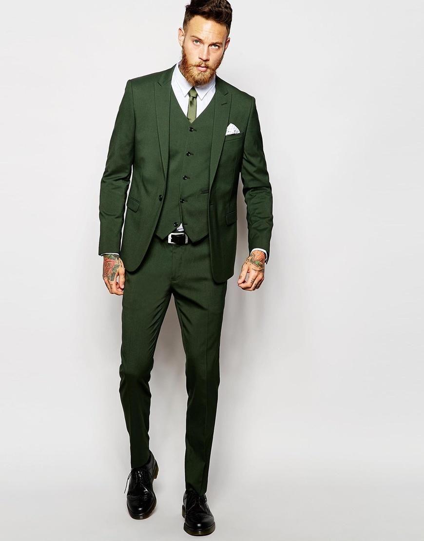 4b1223772b3cc1 ASOS | ASOS Skinny Suit Jacket In Green at ASOS | Suits | Skinny fit ...