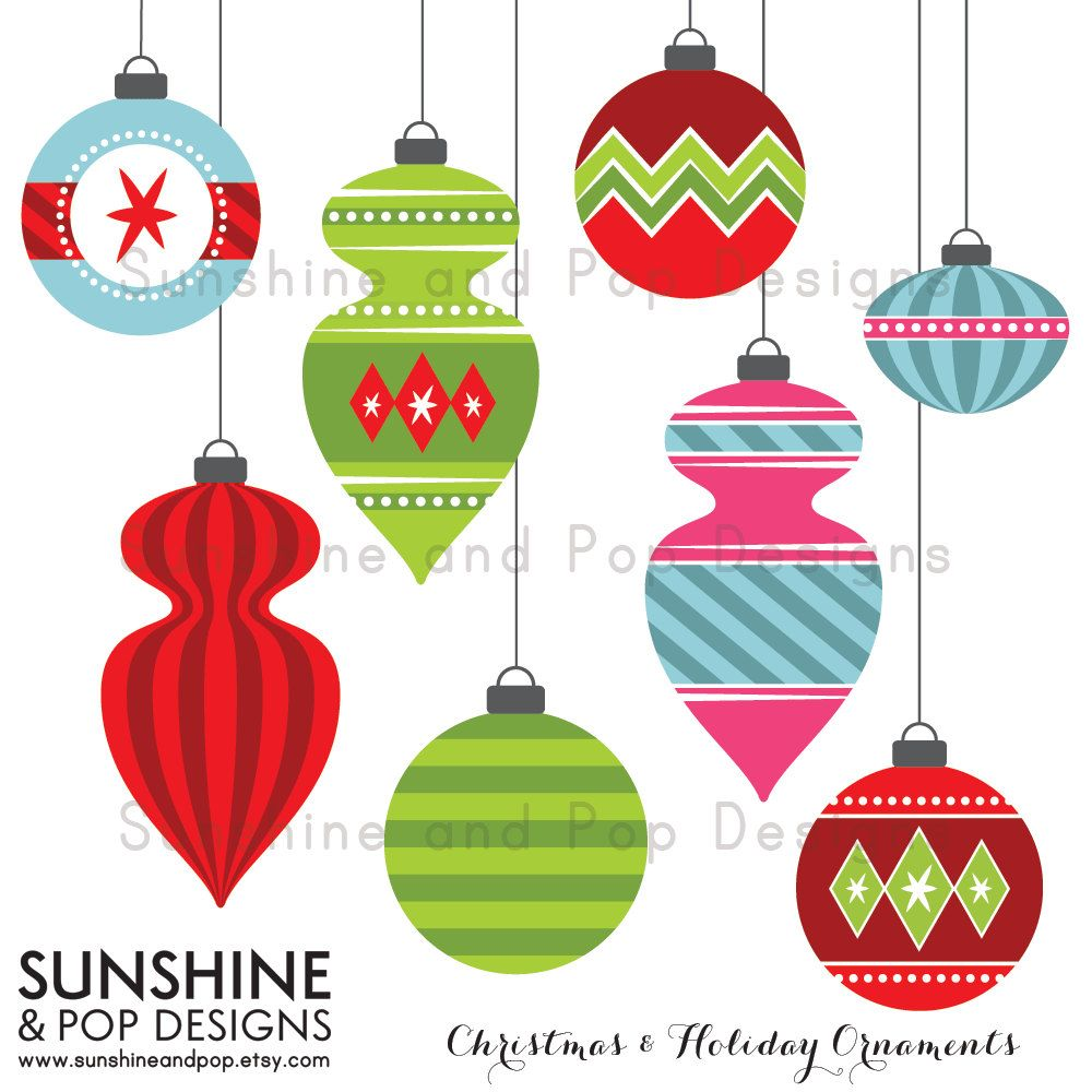 Cute Christmas Ornament Clipart Clipart Kid Printable Christmas Ornaments Retro Ornaments Christmas Scrapbook