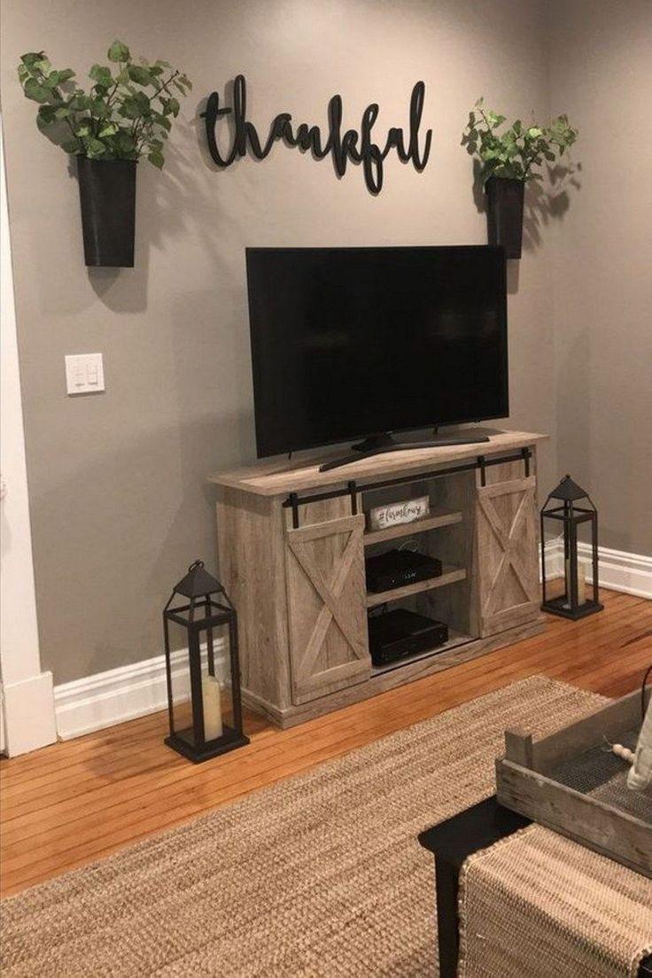 living room television farmhouse wall furniture interior
