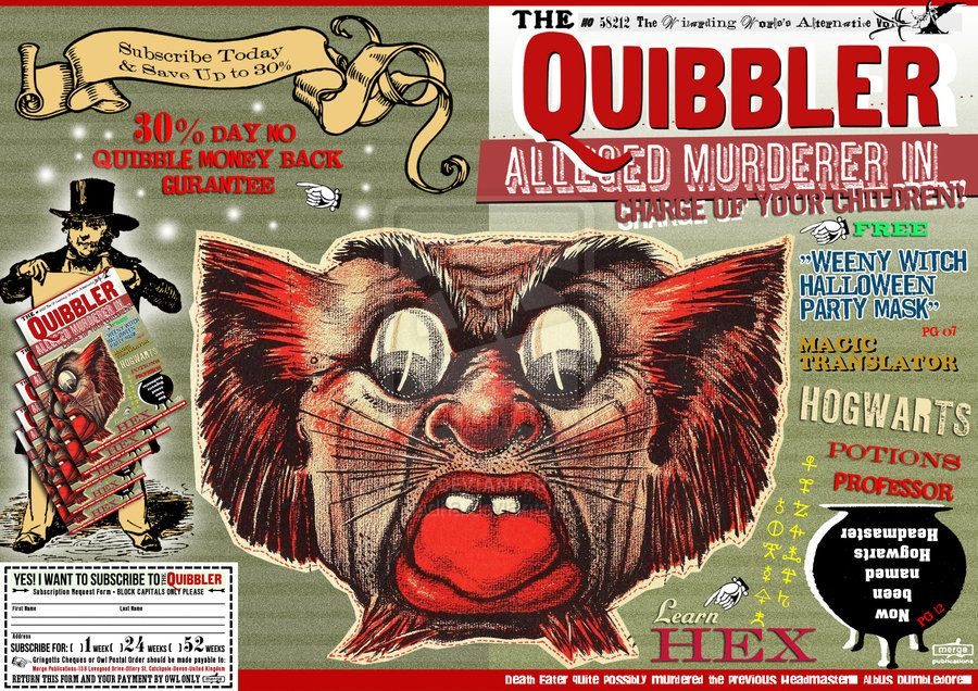 Quibbler : Alleged murderer by jhadha in 2019   Harry ...Quibbler Printable Cover