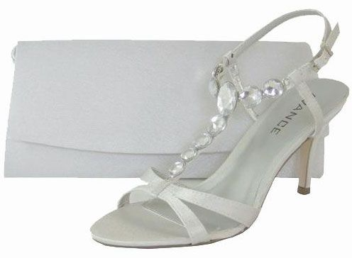 3c46ff110f7 Menbur Avance Diamante Pearl Grey Evening Sandals | Evening Sandals ...