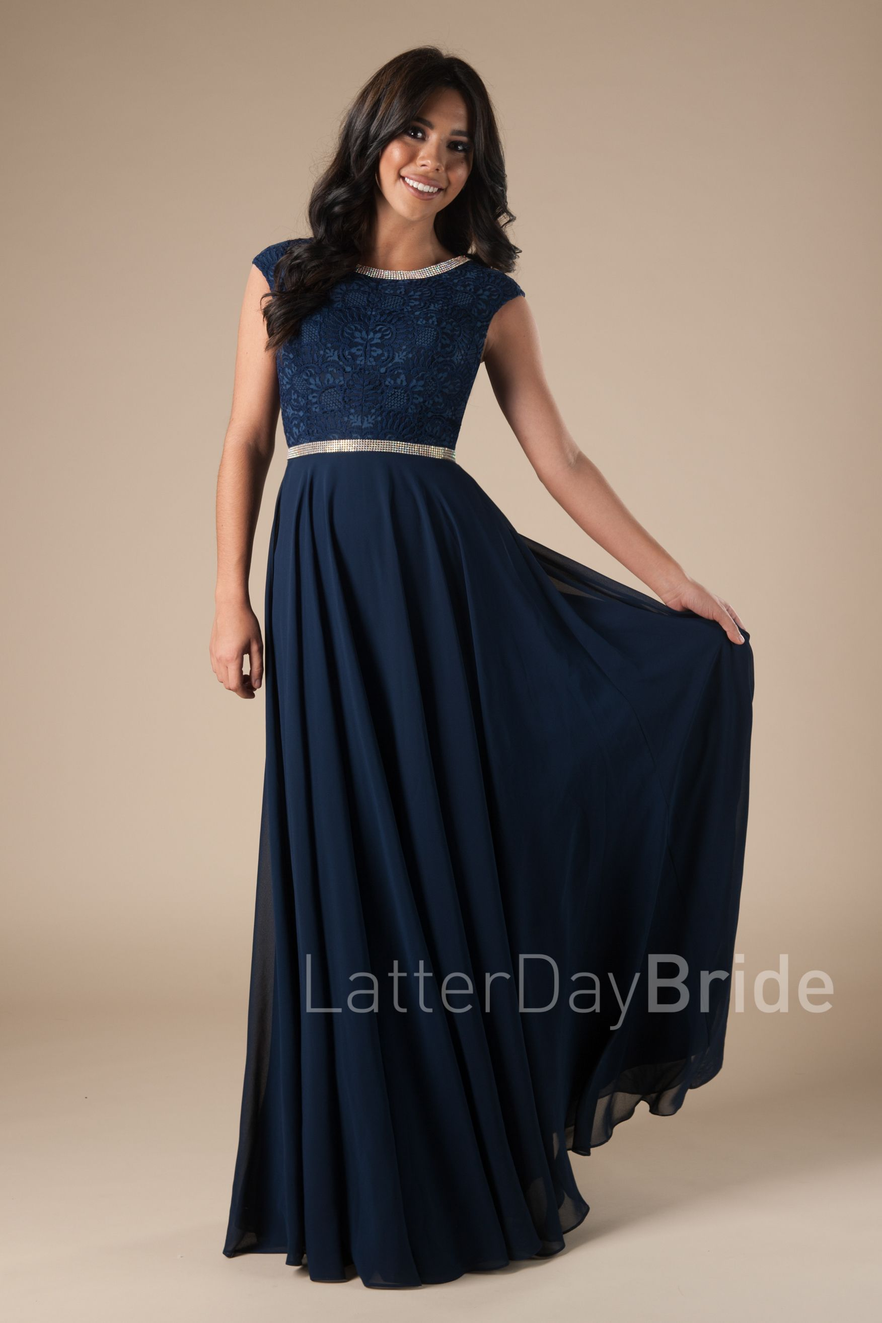 Winter ball | Clothes | Pinterest | Modest prom dresses, Prom and Navy