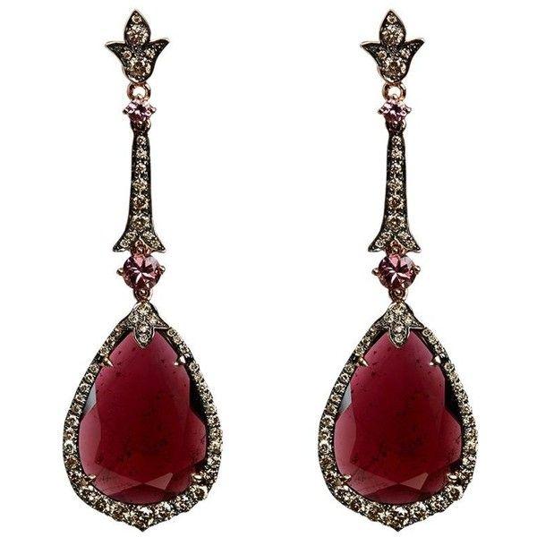 Annoushka Ooak Rose Gold Garnet Earrings 10640 liked on