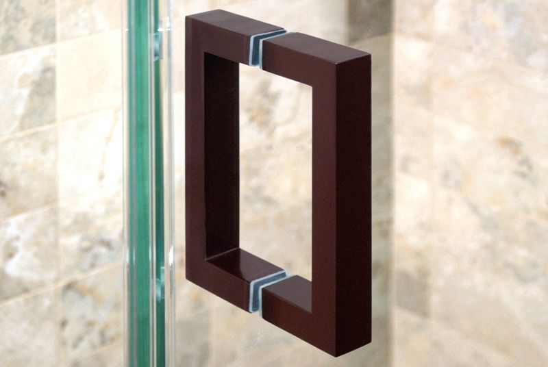 Oil Rubbed Bronze Square Shower Door Handle Shower Door Handles