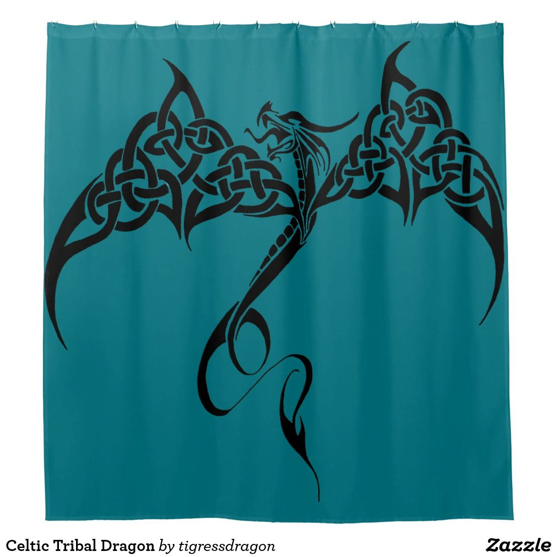 Photo of Celtic Tribal Dragon Duschvorhang   Zazzle