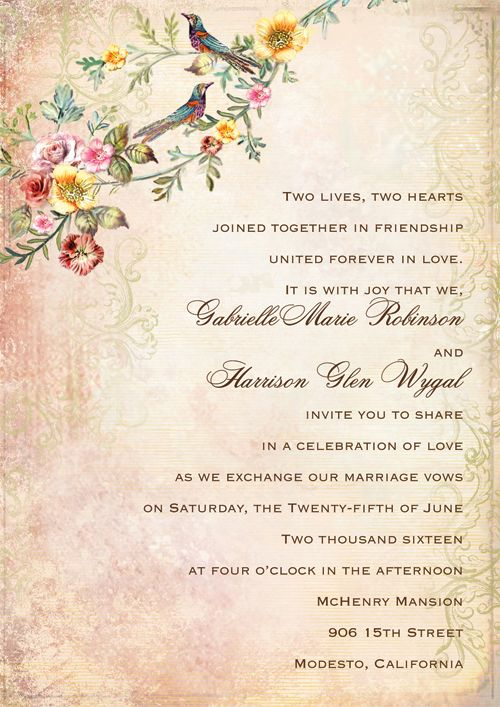 Wedding Invitation In English Wordings: A Guide To Wedding Invitation Wording Etiquette