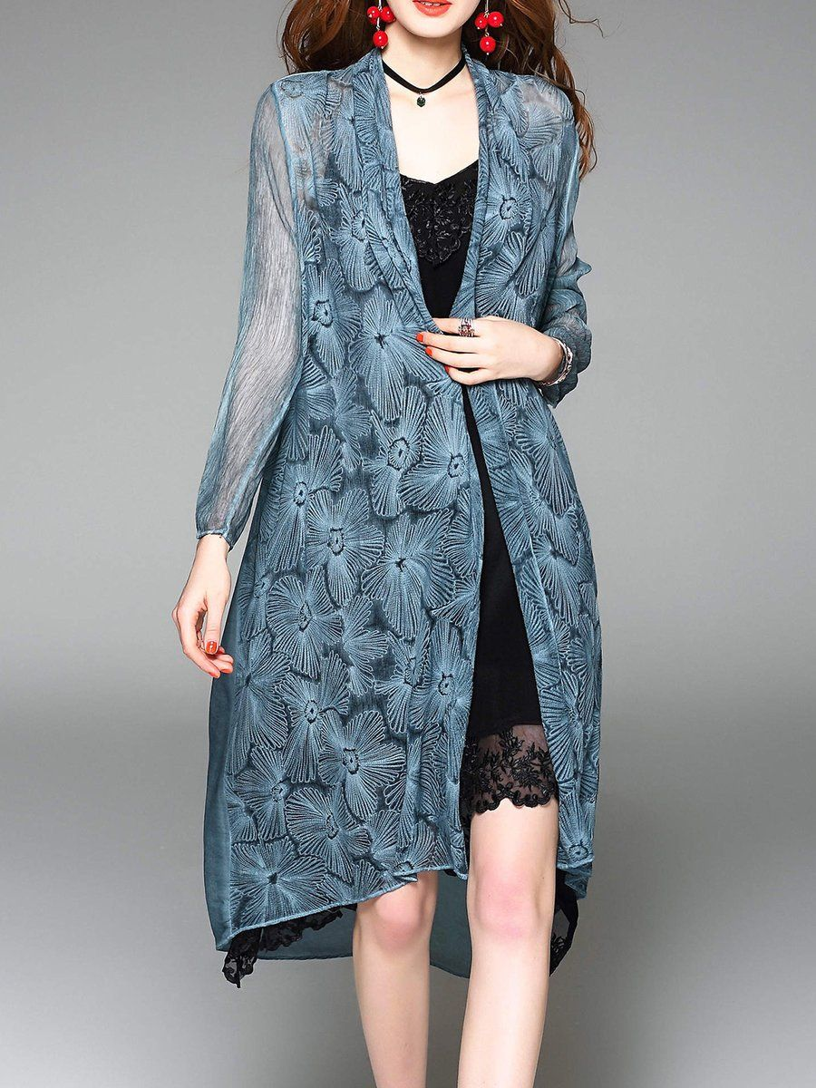 Adorewe stylewe coats designer dfanni open front embroidered