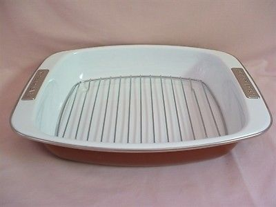 Kitchenaid Enamel Open Roasting Baking Pan With Rack
