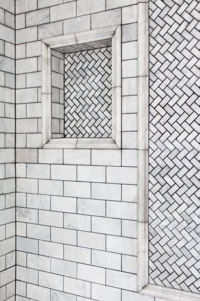 Eclectic Bathroom Photos Tile Shower Niche Eclectic