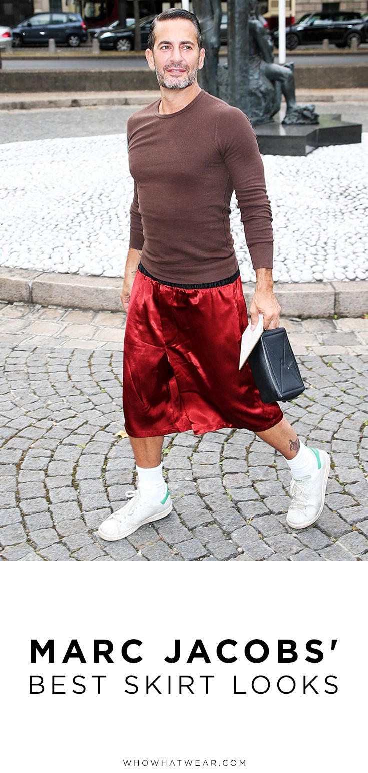 49815c9c7e All the Times Marc Jacobs Wore a Skirt Better Than I Do ...
