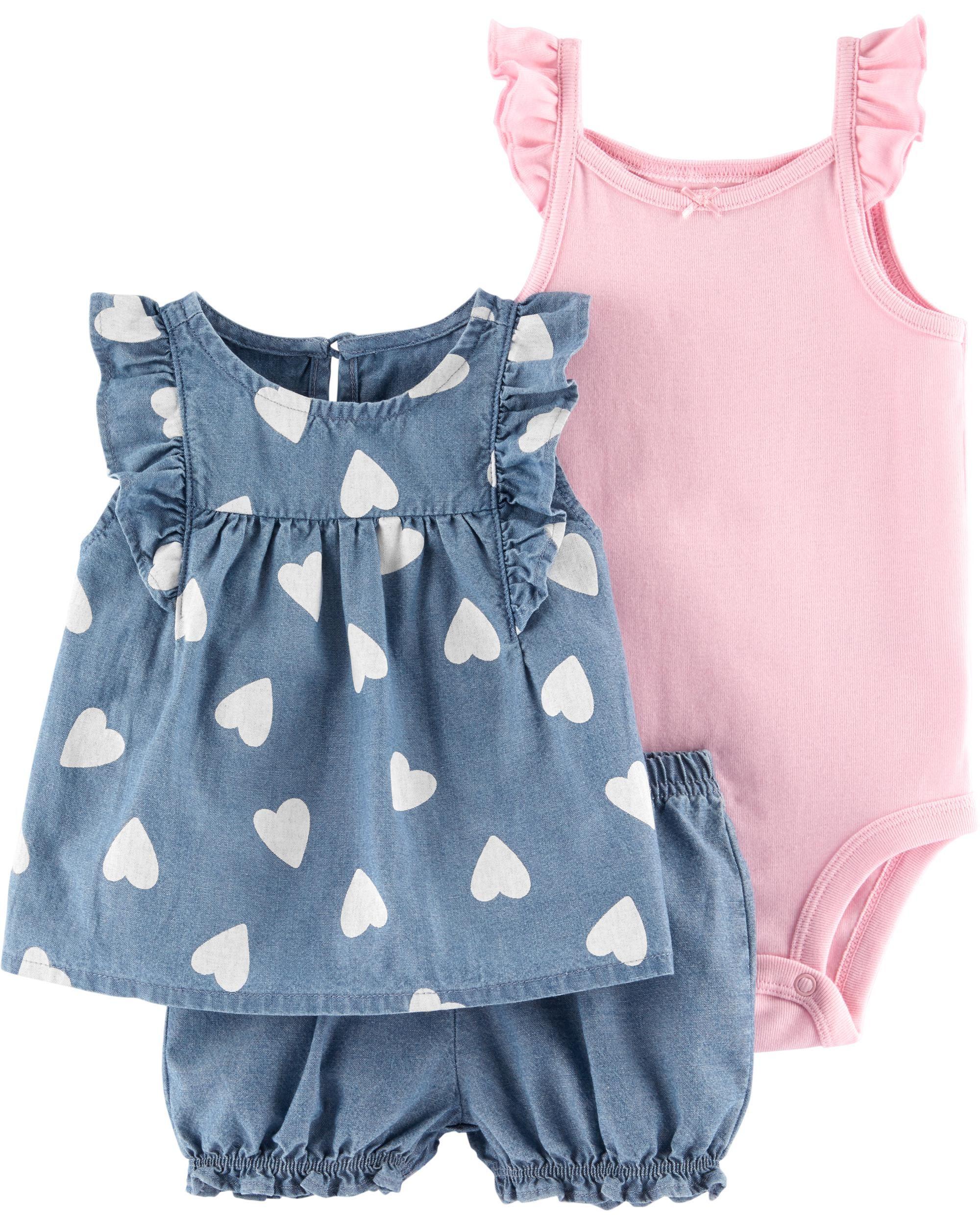 baby girl tank and shorts baby girl summer 0-3month baby girl Newborn girl summer outfit pink summer baby outfit pink and white stripes
